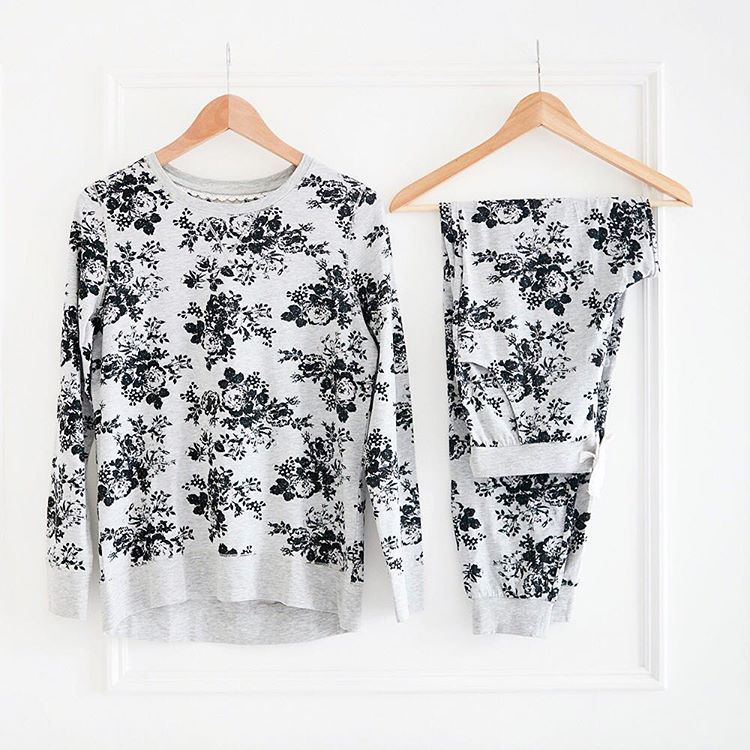 Keep cosy during the night in these super-soft floral #pyjamas (Top: T375097, Bottoms: T375085)