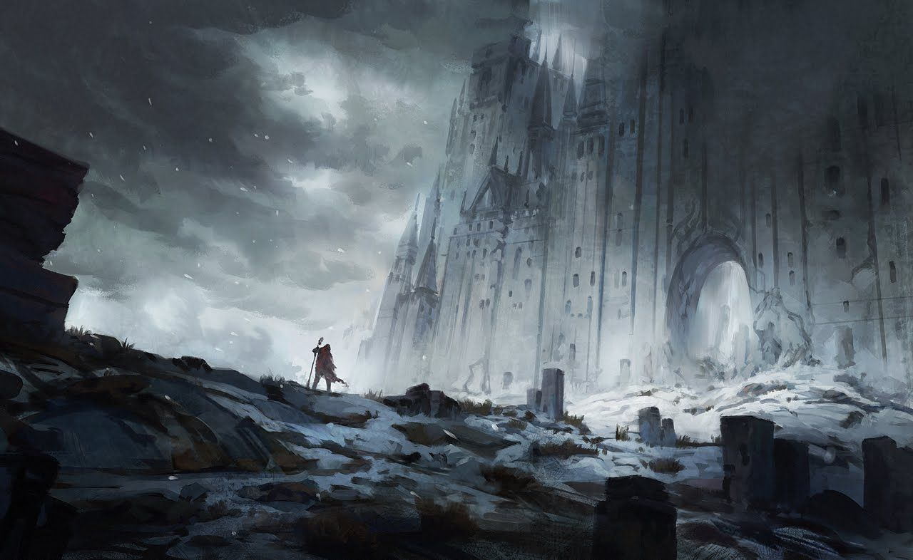Digital Painting The Old North Landscape Concept Art