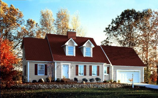 Red Shingle Roof Gaf Roofing Photos Blue Mountain