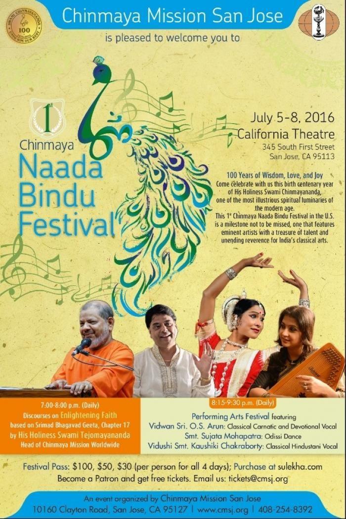 Naada Bindu Festival US from 5-8 July 2016 at California