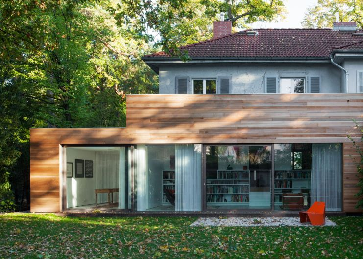 einfamilienhaus berlin grunewald fassade. Black Bedroom Furniture Sets. Home Design Ideas