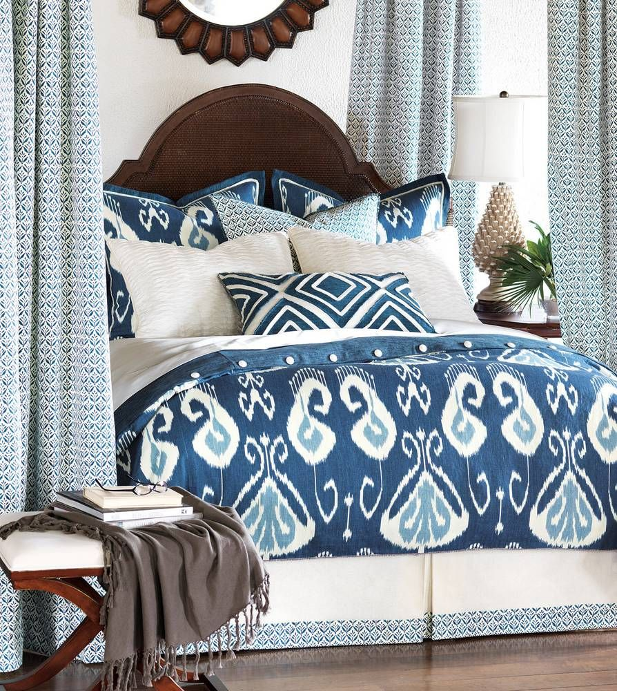 watercolor beyond from bath bed blue duvet buy queen ikat in classic cover white