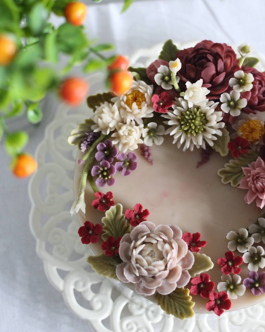 Floral Cake Cakes Pinterest Floral Cake Cake And Buttercream