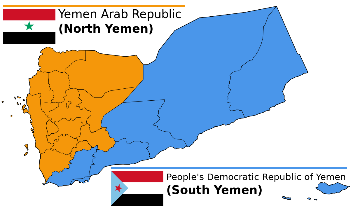 Map of north and south yemen prior to unification the world map of north and south yemen prior to unification gumiabroncs Image collections