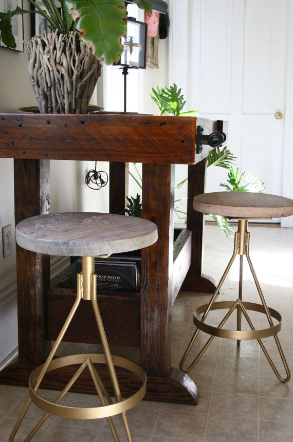 The Earhart Bar Stool Industrial Modern Bar Stool Made With