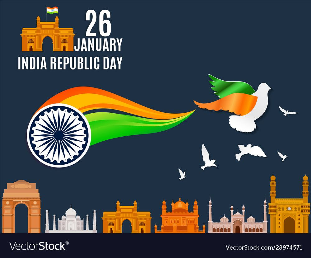 Illustration Of 26th January Republic Day Of India Flat Design Vector Creative Poster Background With India Republic Day India Republic Day Republic Day Indian 26 january 2021 india gate ticket