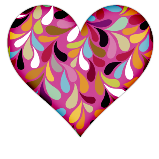 Pink Heart With Colorful Vines Icon, PNG ClipArt Image