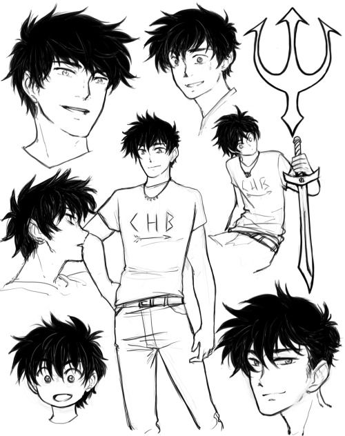 young to older Percy Jackson
