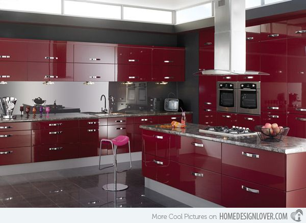 15 High Gloss Kitchen Designs in Bold Color Choices