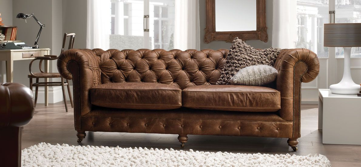 Chesterfield 3 Seater Vintage Leather Sofa Leather Sofas Sofas Leather Sofa Bed Vintage Leather Sofa Leather Chesterfield Sofa