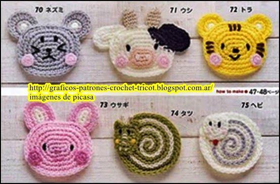 Tejidos A Crochet Ganchillo Patrones Caritas De Animales Tejidas A Crochet Animales De Ganchillo Patron De Ganchillo Tejidos A Crochet