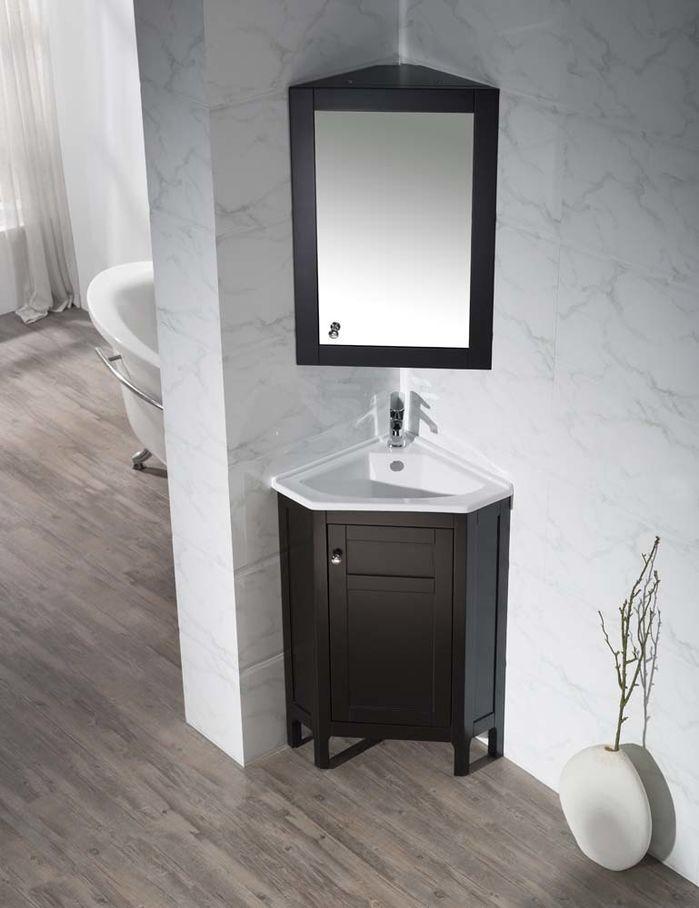 Images Photos Millard Single Corner Bathroom Vanity Set with Mirror