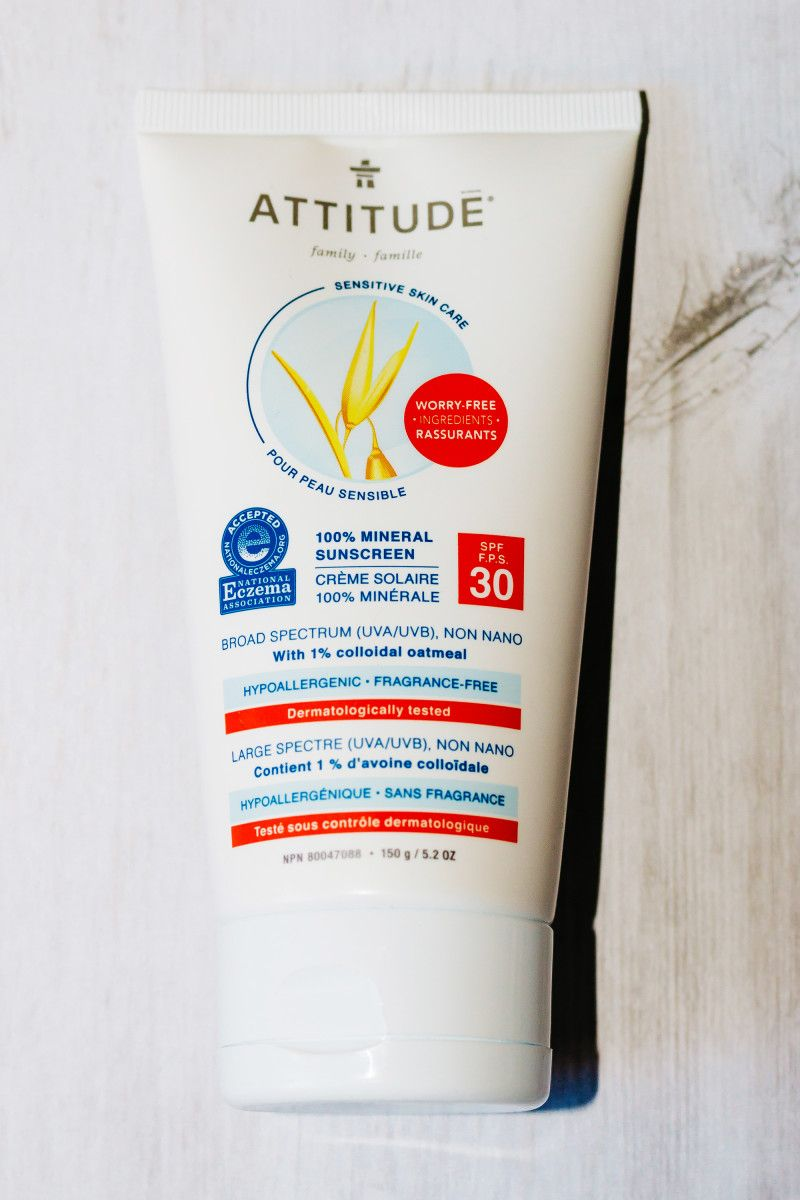 Attitude Sensitive Skin 100 Mineral Sunscreen Spf 30 Sensitive Skin Care Good Sunscreen For Face Mineral Sunscreen