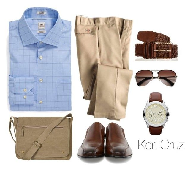 """He Means Business"" by keri-cruz ❤ liked on Polyvore featuring Peter Millar, Kenneth Cole, Dickies, Topman, Ray-Ban and MICHAEL Michael Kors"