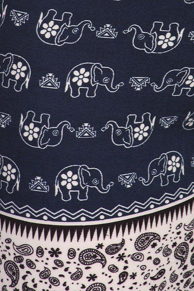 9cc700609f150c World of Leggings® Tribal Floral Animal Print Fashion Leggings - Elephant  Parade OS at Amazon Women's Clothing store: