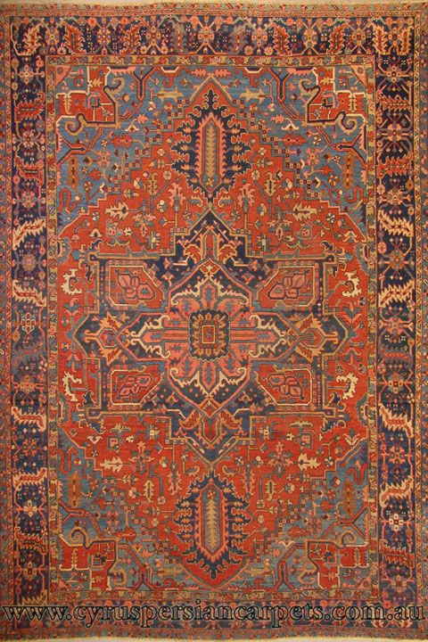 Antique Persian Heriz Hand Knotted Wool Rug Com Imagens Tapetes Carpete
