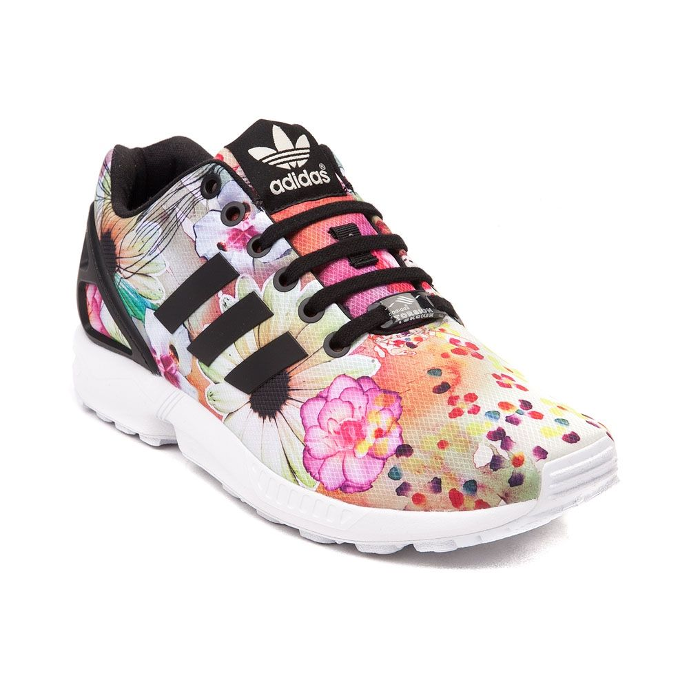 Crank up your mileage with the modern ZX Flux Athletic Shoe from adidas!  This futuristic