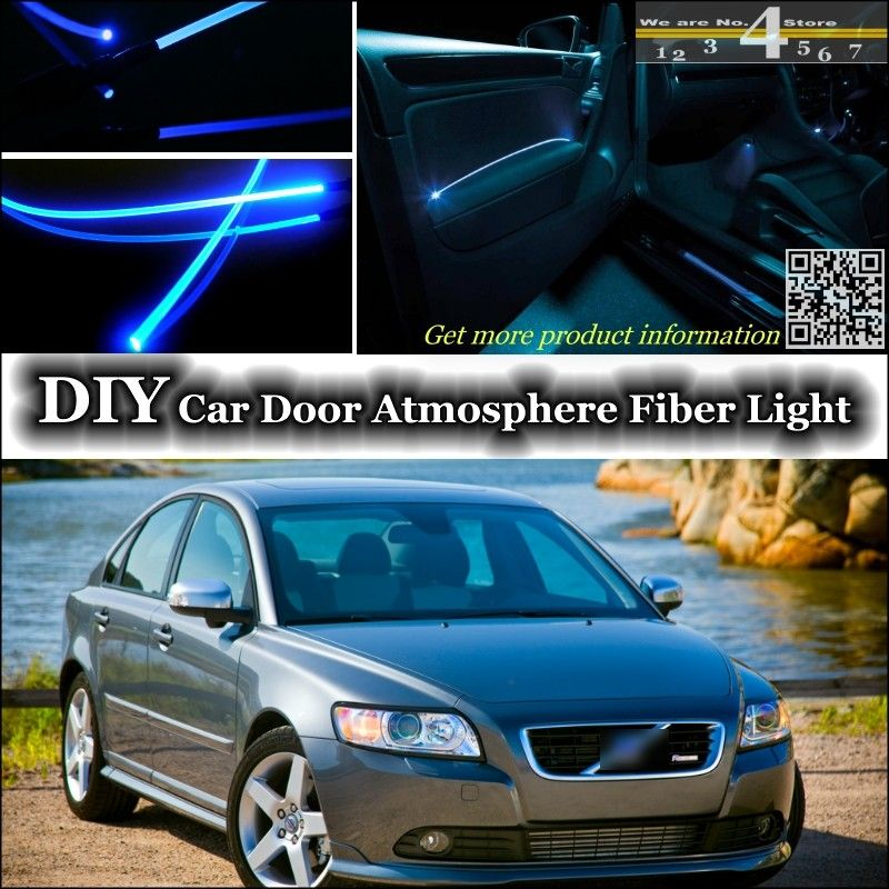 For Volvo S40 S40l Interior Ambient Light Tuning Atmosphere Fiber Optic Band Lights Inside Door Panel Illumination Not El Ambient Lighting Lights Inside Doors