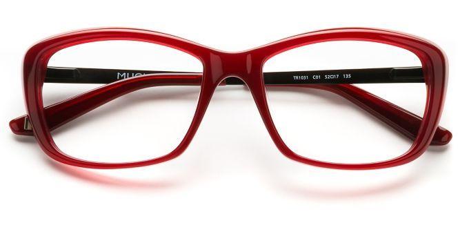 Product Image Of Thierry Mugler Tr1031 Burgundy Glasses Womens Glasses Mugler