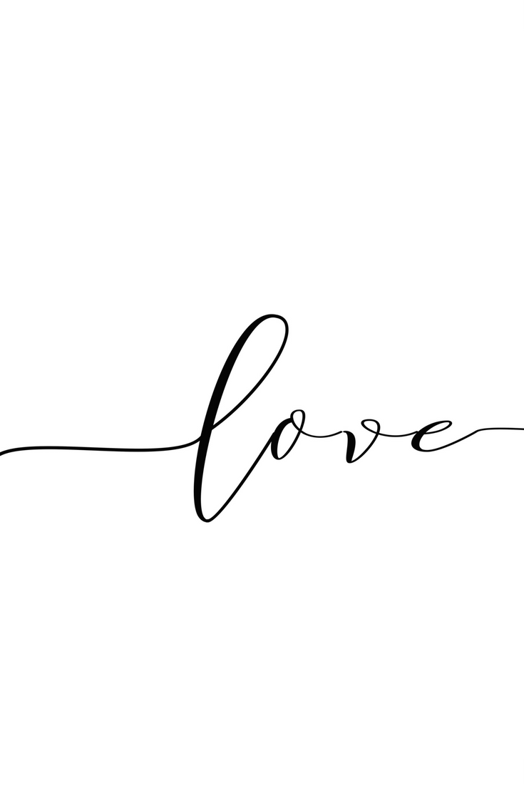 Love Poster, woman printable gift, desk decor ideas, bestfriend, modernist wall art, gift-for-her, printable online, new job gifts