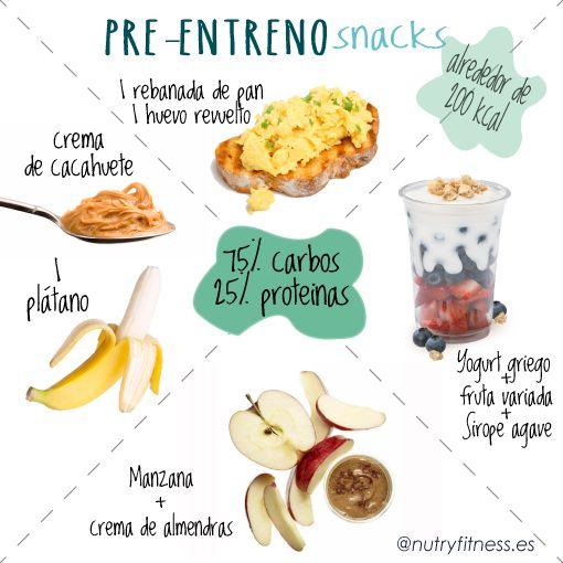 Fruta para antes de entrenar