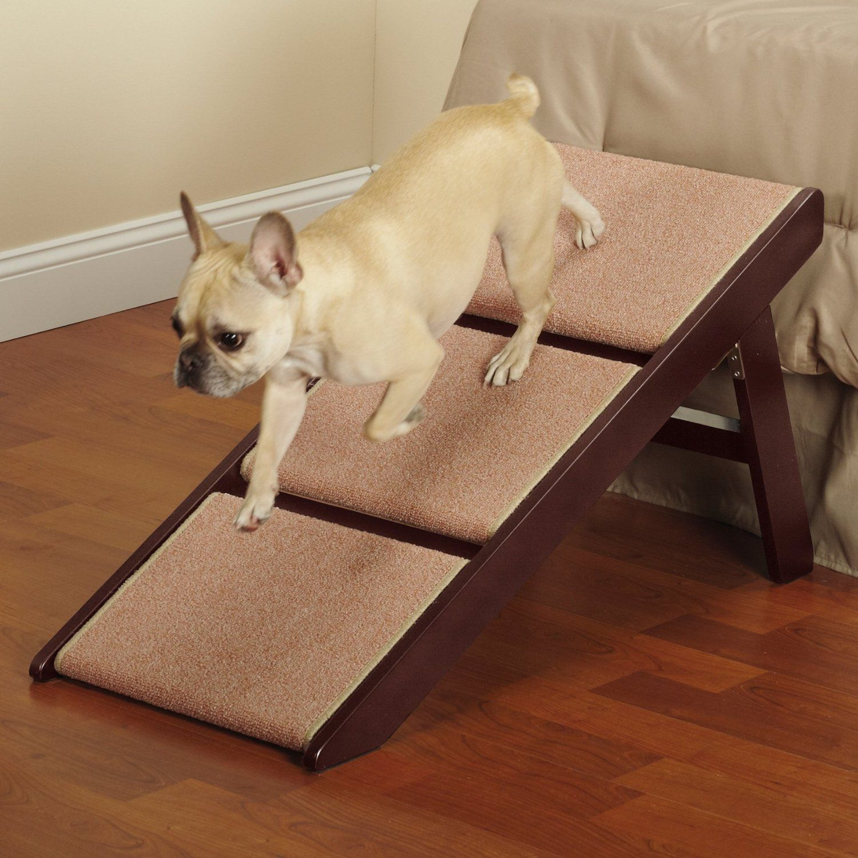 Amazon.com : Pet Studio Pine Frame Dog RampSteps, 3 Step : Pet Stairs : Pet  Supplies