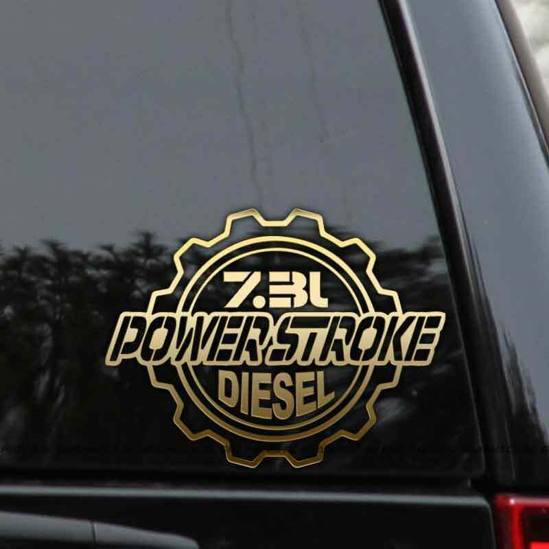 Powerstroke 7 3l Diesel Truck Decal Sticker Ford Turbo F250 F350 Window Laptop Rlgraphics Truck Decals Diesel Trucks Ford Turbo