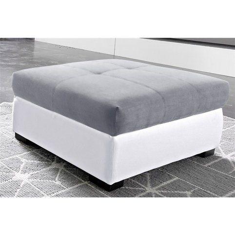 pouf repose pieds rectangulaire microfibre de luxe et imitation cuir qualit luxe cotta blanc. Black Bedroom Furniture Sets. Home Design Ideas