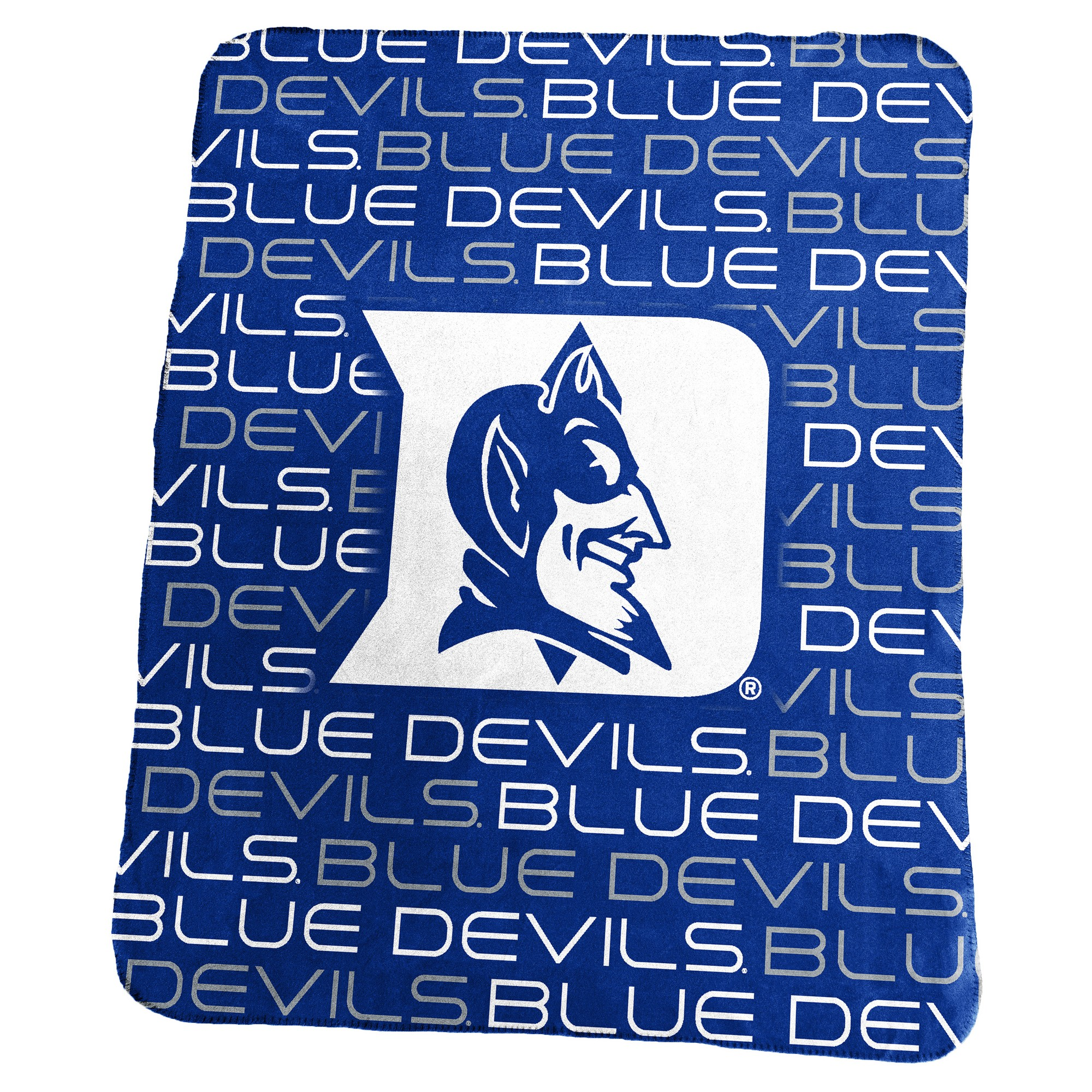 another chance eb35c 89c3b NCAA Duke Blue Devils Logo Brands Classic Fleece Throw Blanket