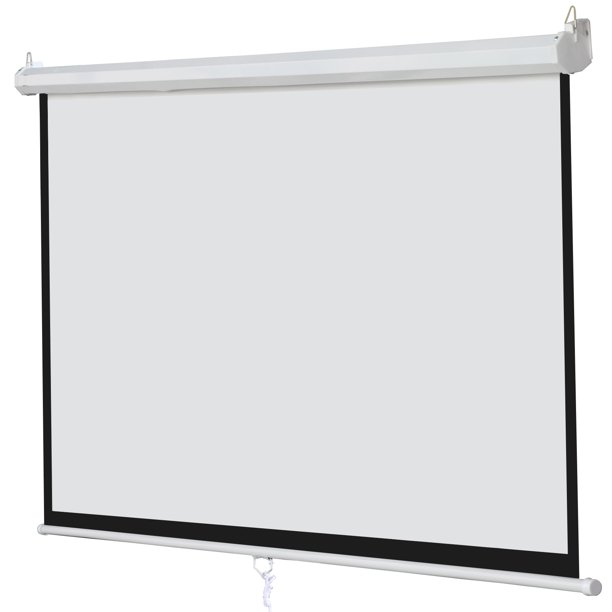 Zeny 100 Diagonal 16 9 Projection Projector Screen Hd Manual Pull Down Home Theater Walmart Com Outdoor Projector Screen Diy Projector Screen Diy Outdoor Projector Screens
