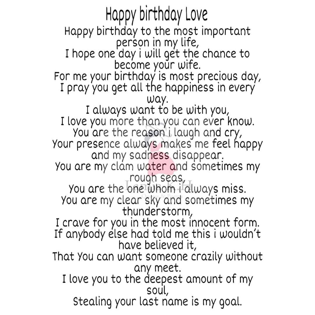 Pin By Rikaza Rifai On Boyfriend In 2020 Happy Birthday Boyfriend Quotes Happy Birthday Boyfriend Birthday Message For Boyfriend