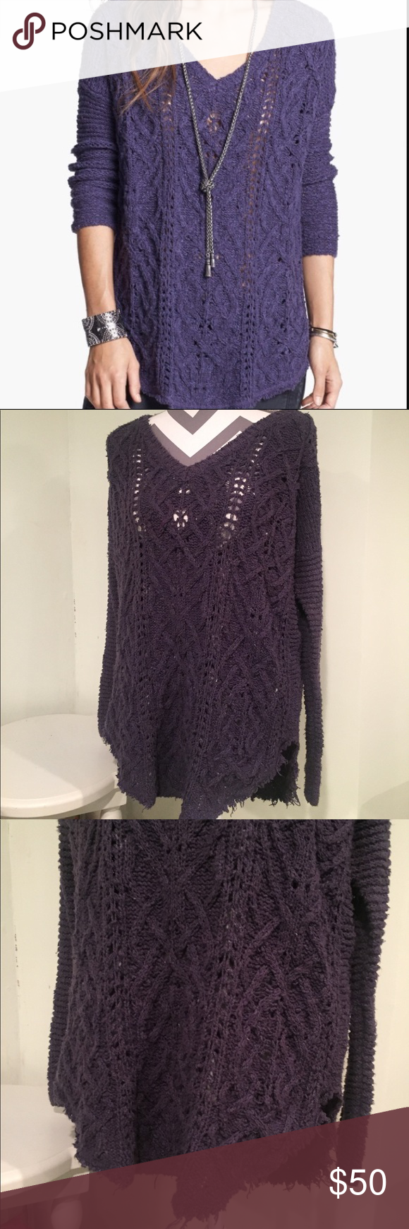 Free People Purple Sweater | Deep purple color, Fall season and ...
