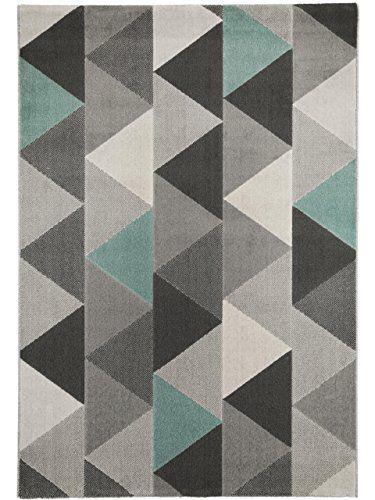 benuta alfombra moderna zick zack gris 120x170 cm benuta httpwwwamazon - Alfombra Moderna