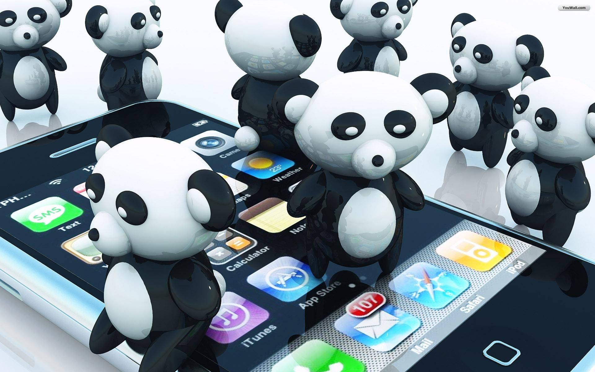 iPhone Panda's | Iphone wallpaper, Iphone, Panda