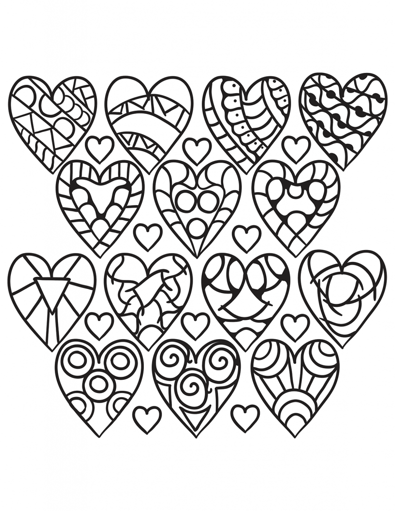 hearts coloring pages for adults  muster malvorlagen