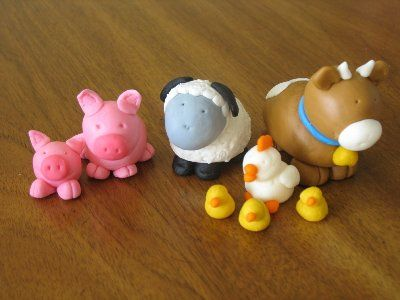 Fondant Animals Jpg #fooddecoration, #food, #cooking, https://facebook.com/apps/application.php?id=106186096099420