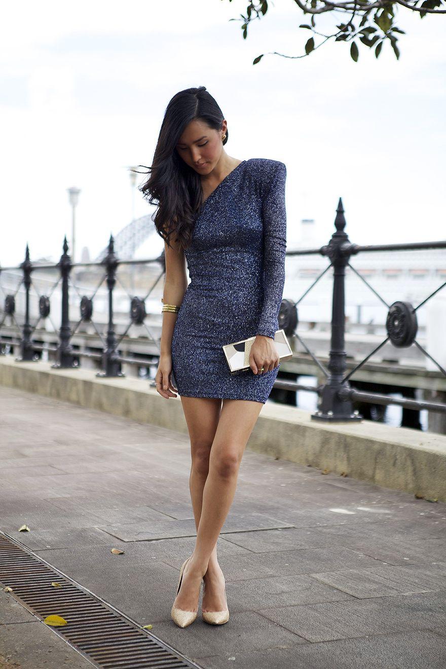 Brian Lichtenberg Dress, Samantha Wills Bangle, Thrifted Heels, Asos ...
