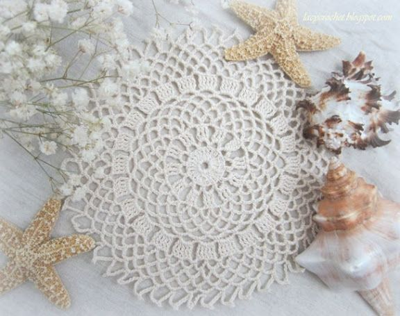 Easy Crochet Doily for Beginners   this small doily is extremely ...