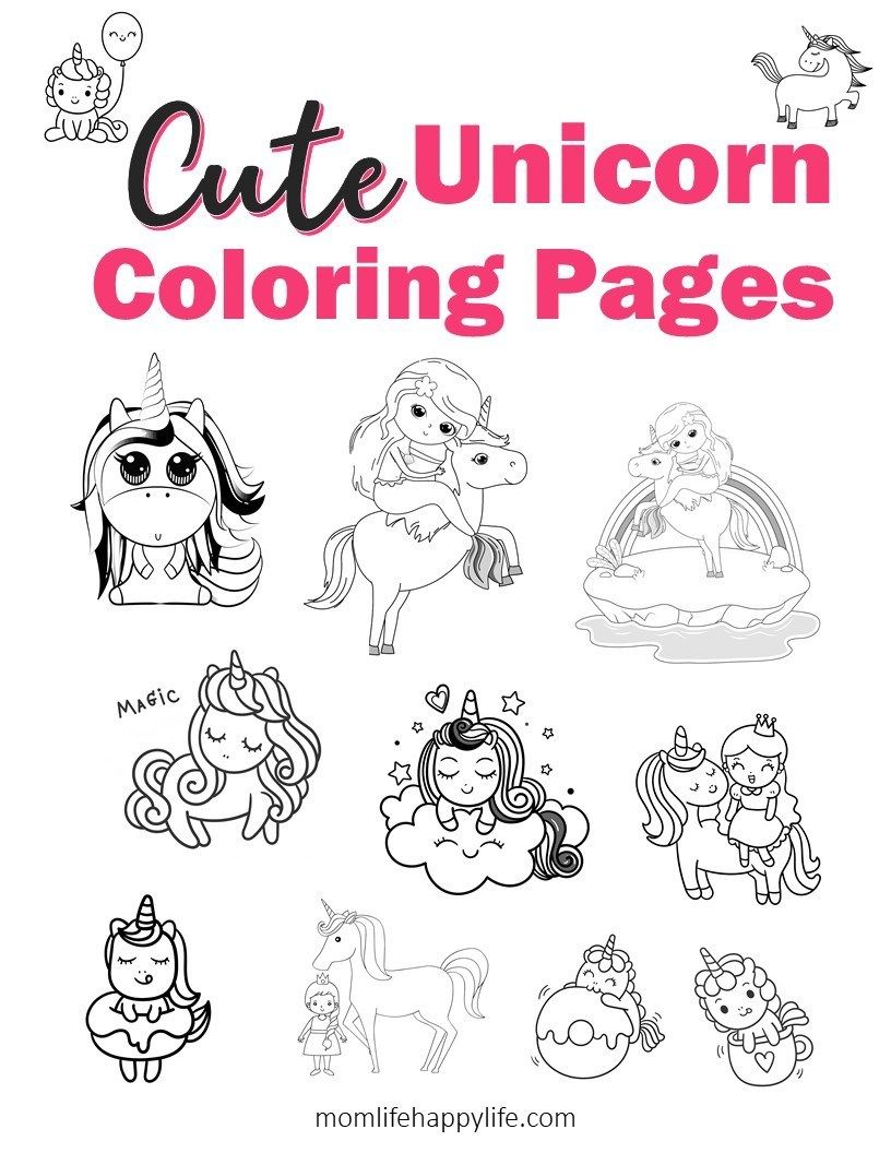 The Cutest Free Unicorn Coloring Pages Online Unicorn Coloring