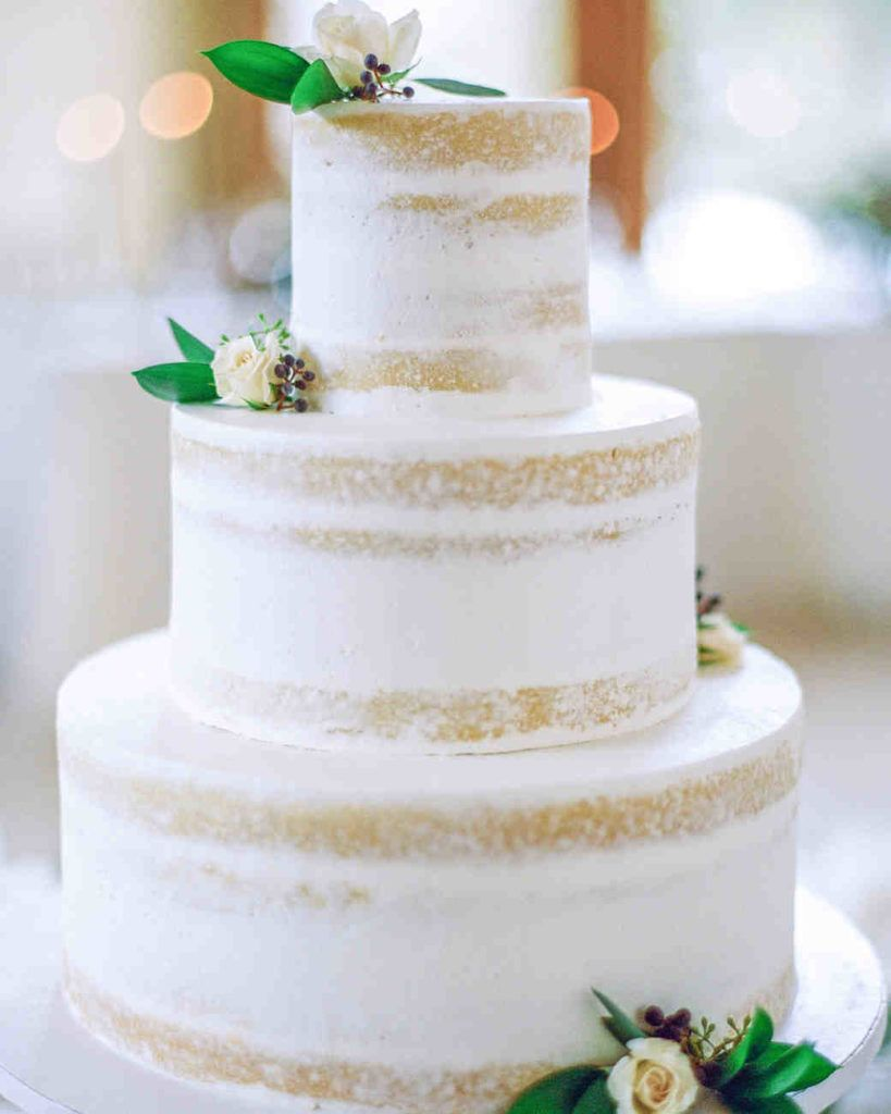 9 white wedding cakes that make the case for going classic page 4 of 9 white naked cake 9 white wedding cakes junglespirit Images