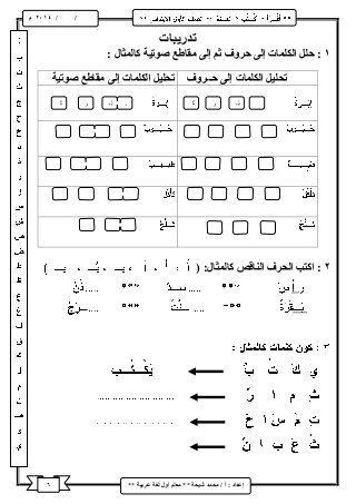 شرح منهج اللغة العربية للصف الأول الابتدائى ترم اول Learning Arabic Arabic Worksheets Arabic Alphabet Letters