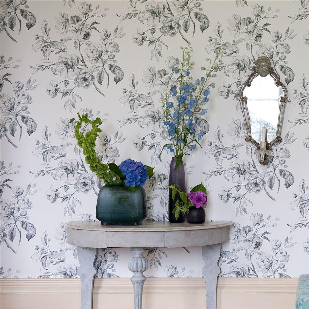 watelet black and white wallpaper Designers Guild