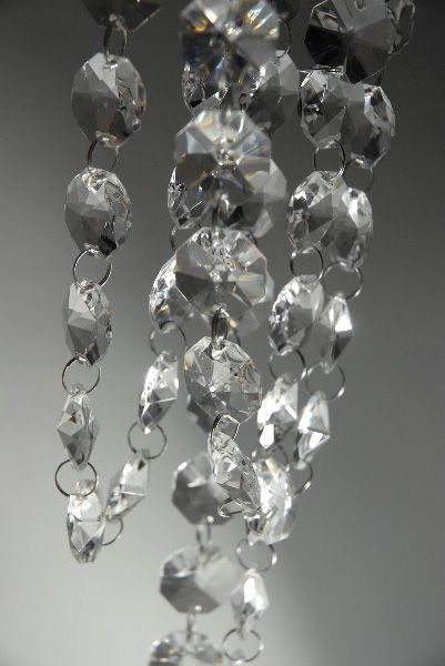 Crystal garlands 6 feet garlands and crystals 12 ft clear glass chandelier wedding crystal lamp bead chain prisms garland new aloadofball Image collections