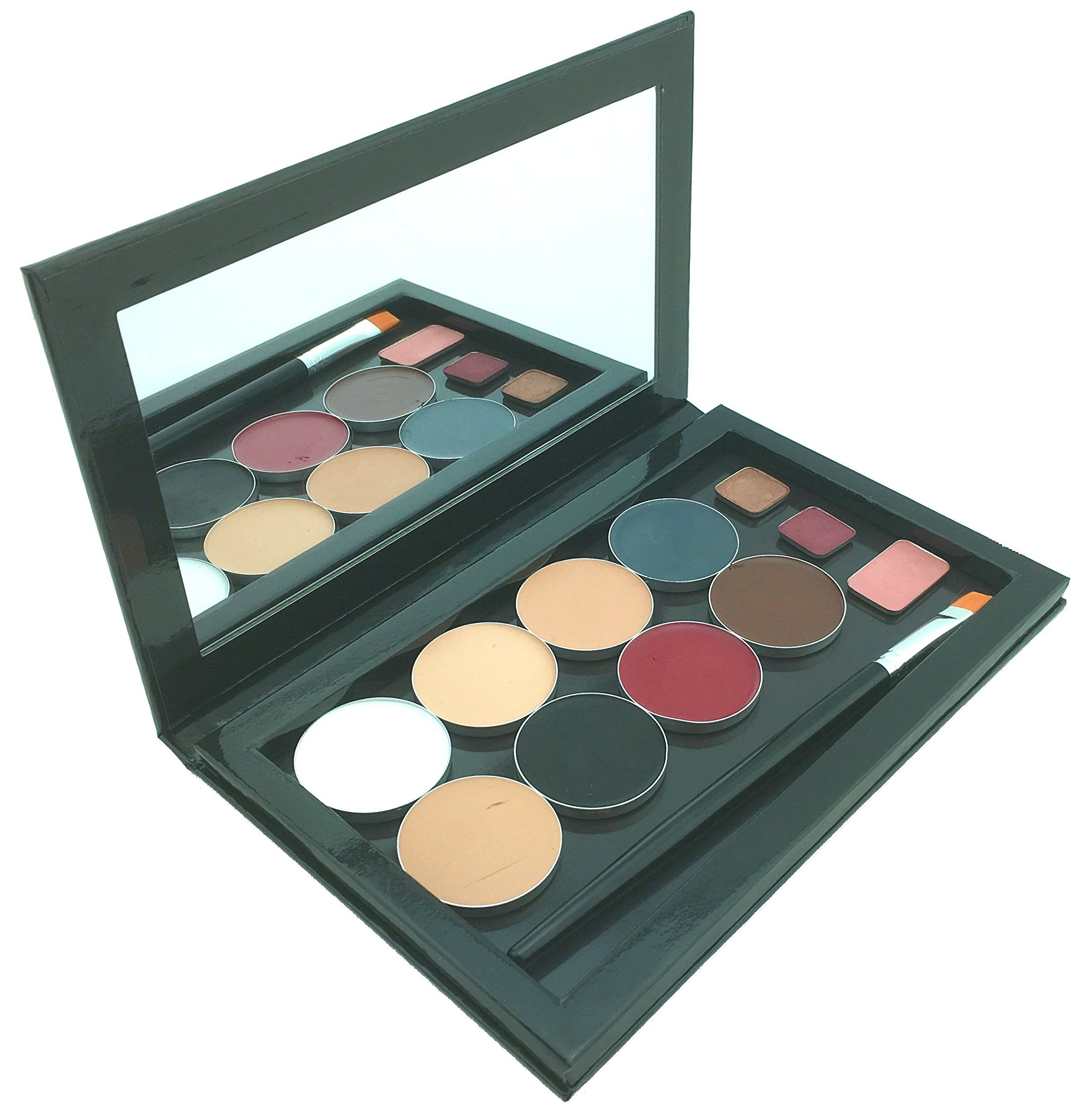 Large Empty Makeup Palette with Mirror and 20