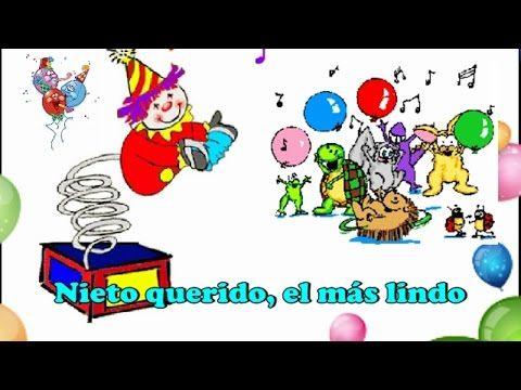 Cancion De Cumpleaños Para Niño Nieto Youtube Feliz Cumpleaños Nieto Cumpleaños Niños Feliz Cumpleaños