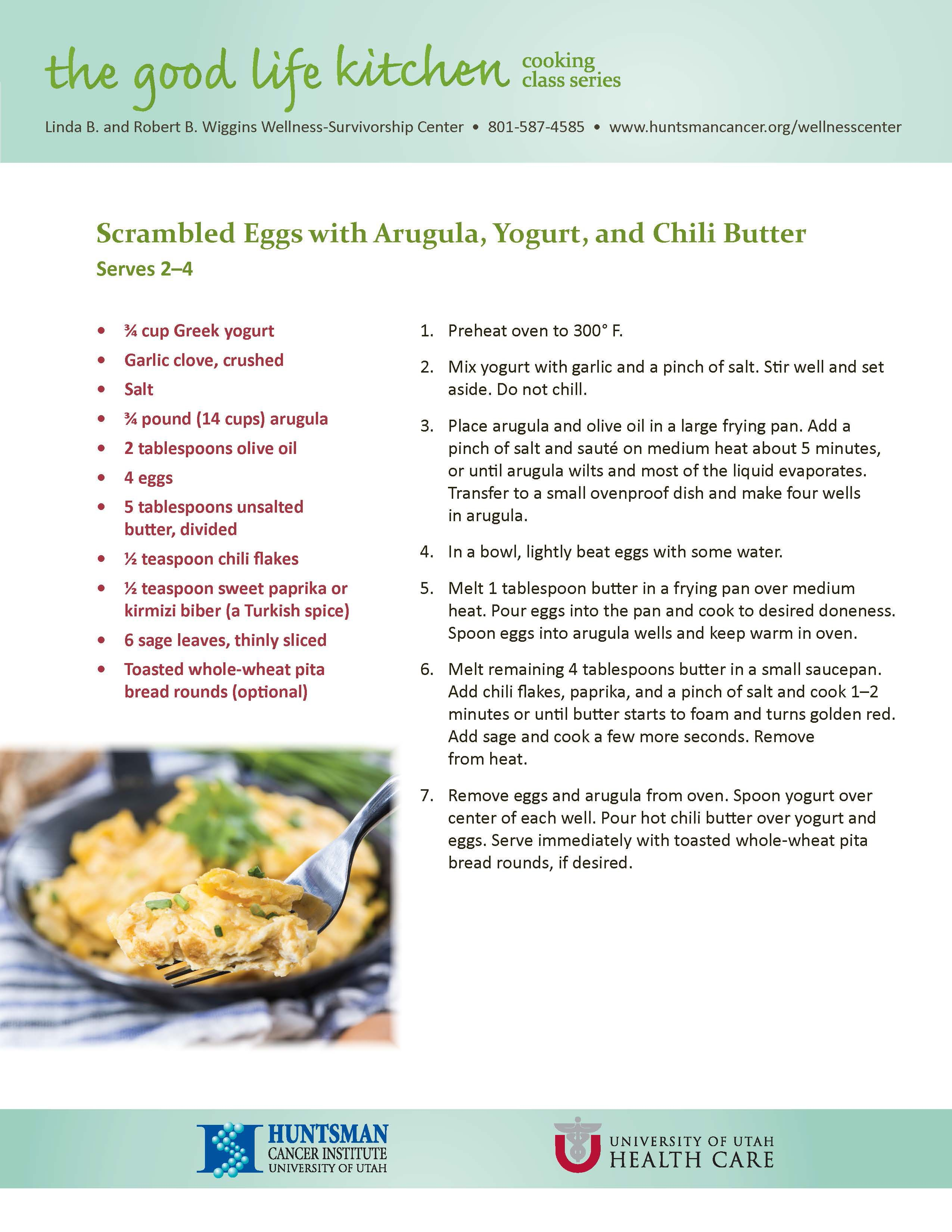 This healthy recipe for Scrambled Eggs is from HCI's