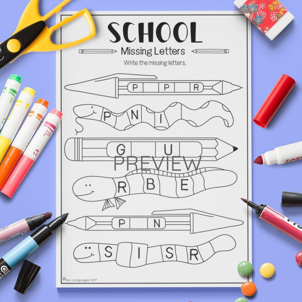 School Missing Letters