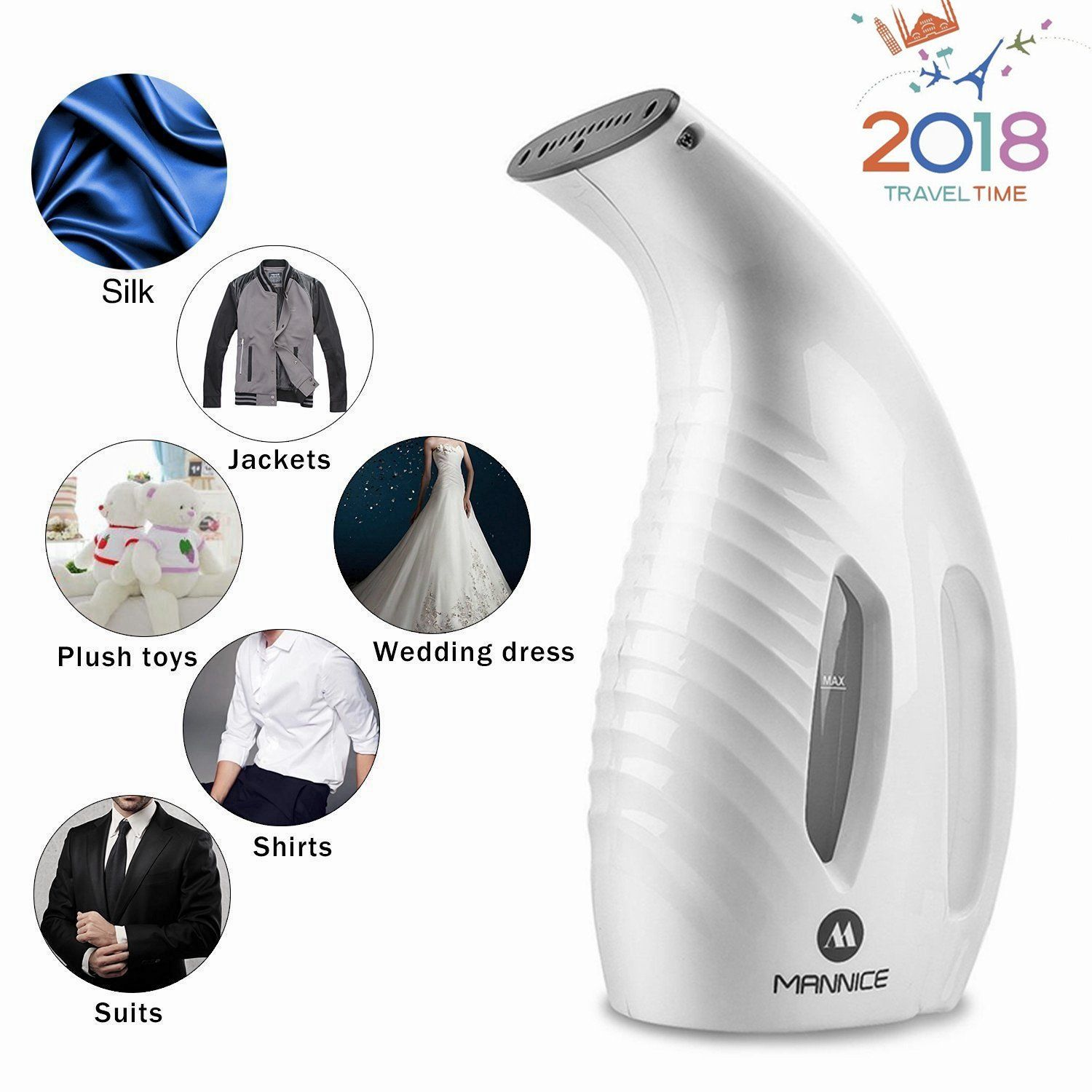 Portable Garment Steamer for Clothes Travel Iron Handheld Fabric