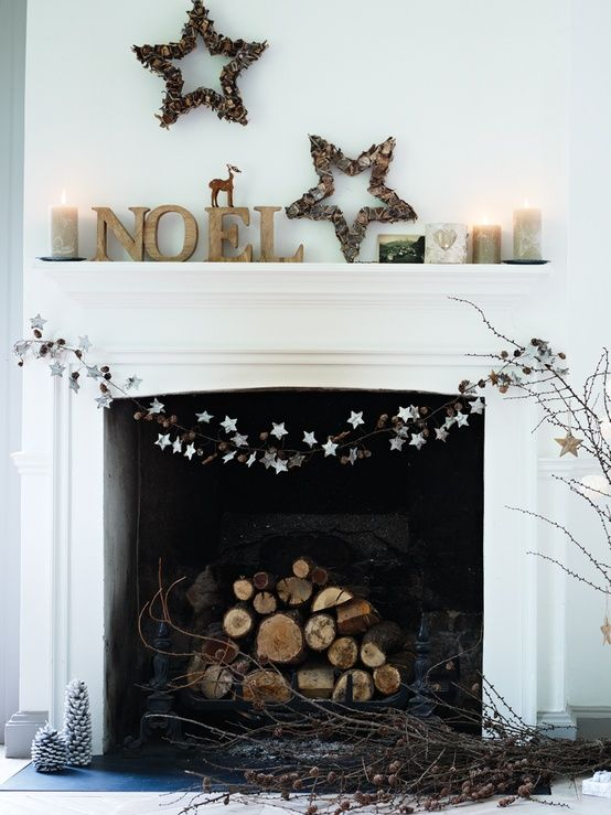 Pin by Laura Lea Plaza on NAVIDAD Pinterest Mantles, Mantle and - christmas fireplace decor