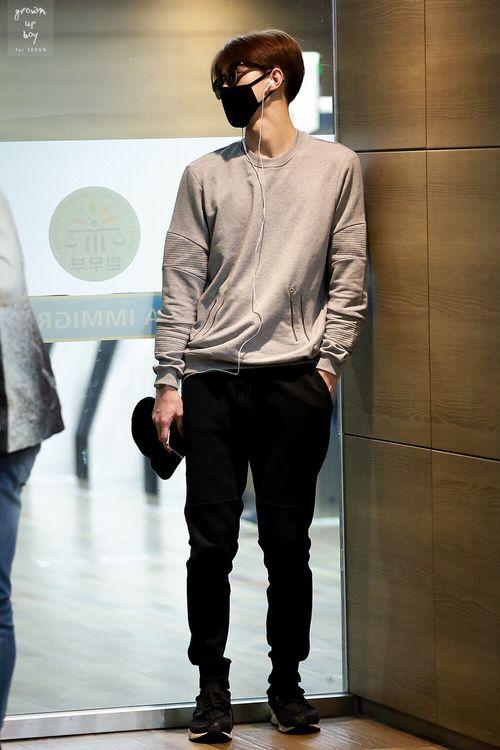 sehun airport fashion